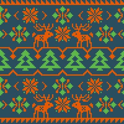 Posters Noël, hiver, tricot, seamless, modèle