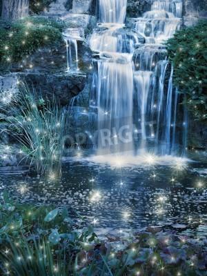 Posters Nuit magique scène de cascade