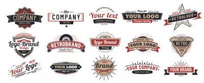 Posters Old badges. Vintage sign, retro premium badge and logo emblem frame vector set