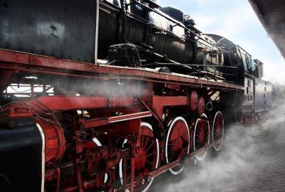 Posters Old locomotive wheels