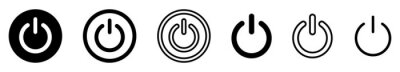 Posters On-off icon. Set of power buttons. Vector illustration.