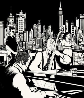 Posters Orchestre de jazz jouant à New York