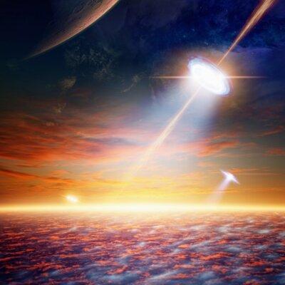 Posters OVNI dans le ciel