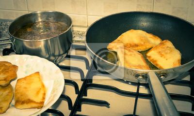 pan et délicieux frit panzerotti