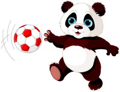 Posters Panda frappe la balle