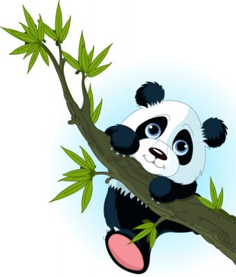 Posters Panda géant accrobranche