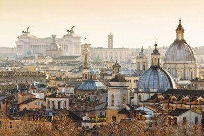 Posters Panorama de la vieille ville de Rome, Italie