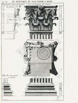 Posters Panthéon de Rome X