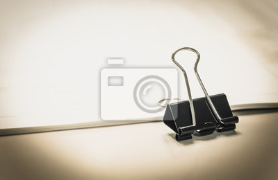 Posters PaperClip Business reports and Accounting of documents on Office background.