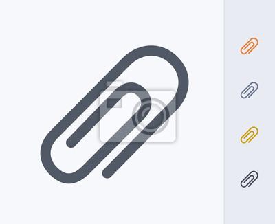 Posters Paperclip - Icônes de carbone. Une icône professionnelle, pixel-aligned conçue sur une grille de 32x32 pixels et redessinée sur une grille de 16x16 pixels pour très petites tailles.