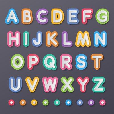 Posters papier lettres de l'alphabet de capital