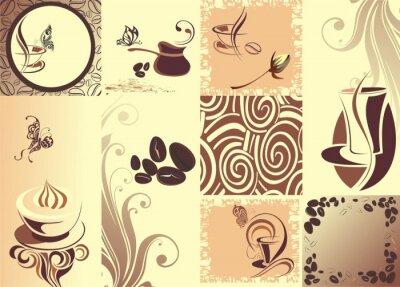 Posters papillon café Vecteur