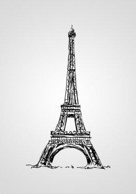 Posters Paris art illustration de conception