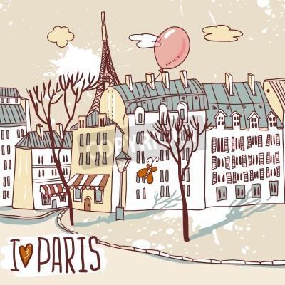 Posters paris croquis urbain