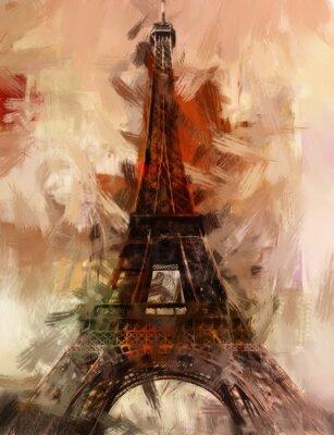 Posters Paris Gemälde tour Eiffel Eifelturm Bild Kunst Ölgemälde