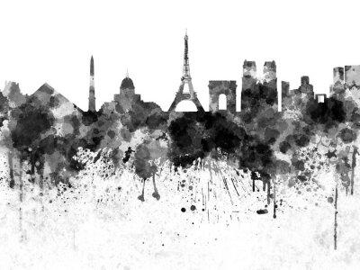 Posters Paris, Horizon, noir, aquarelle