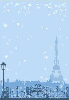 Posters Paris l'hiver fond