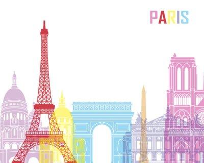 Posters Paris skyline pop