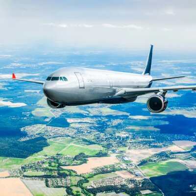 Posters Passager Airliner dans le ciel