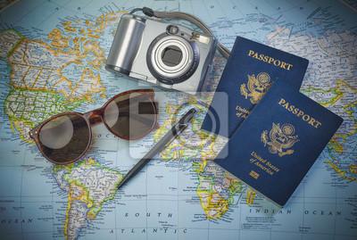 Posters Passeports au monde Voyage