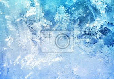 Posters Pattern of transparent shiny ice.
