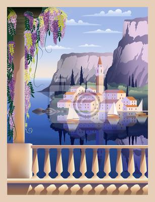 Paysage romantique méditerranéen