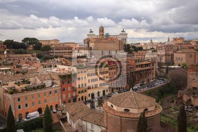 Paysage urbain du Mont Palatin à Rome Italie