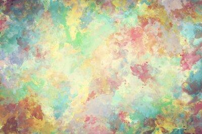Posters Peinture d'aquarelle colorée sur toile. Super haute résolution et qualité de fond