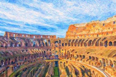 Posters Peinture numérique Rome Colosseum