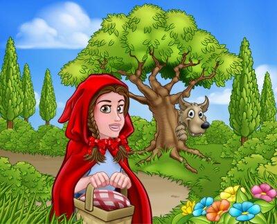 Posters Petit capot rouge et scène de loup