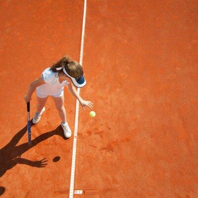 Posters Peu, tennis, champion, préparer, servir