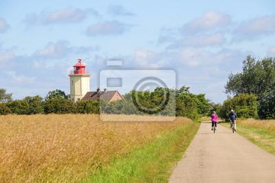 Posters Phare, Westermarkelsdorf, île baltique de Fehmarn, vélo