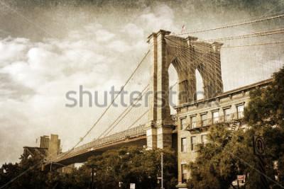 Posters photo de style vintage du pont de Brooklyn à New York