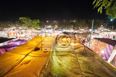 Photo du marché de l'alimentation de l `Ingo à Goa, en Inde la nuit
