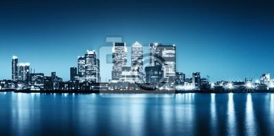 Photo panoramique de Canary Wharf vue de Greenwich.