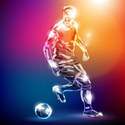 Posters piłka nożna WEKTOR