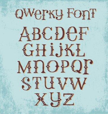 Posters Pinceau à la main avec lettres mixtes majuscules et minuscules