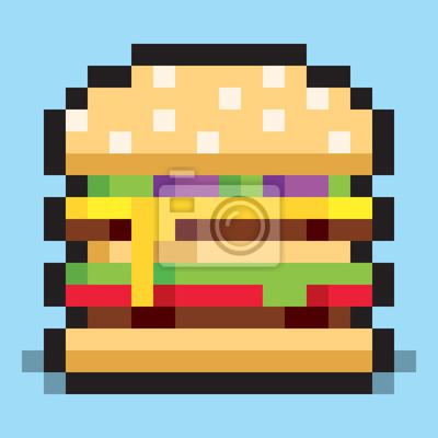 Pixel Art Hamburger Mcdo