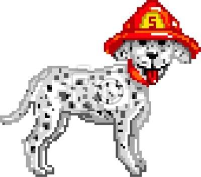 Posters Pixelart Firedog