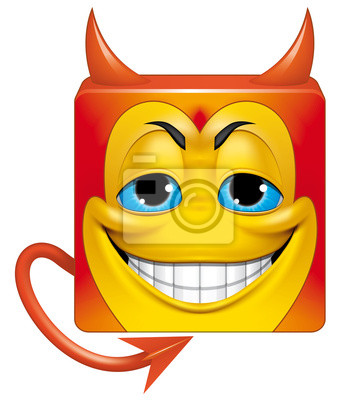 Place Emoticone Diable Affiches Murales Posters Satan Diable Mal Myloview Fr