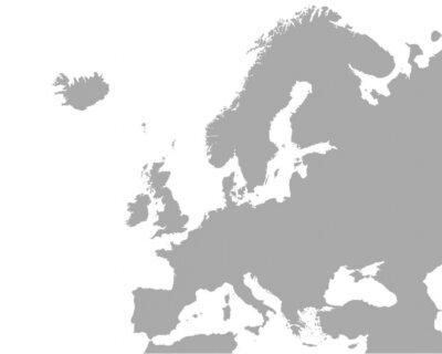 Posters Plan détaillé de l'Europe