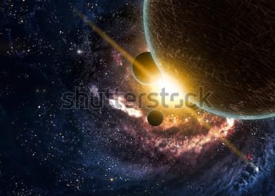 Posters Planètes sur les nébuleuses dans l'espace