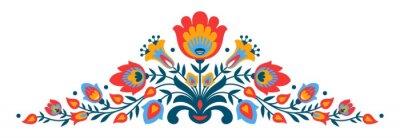Posters Polonais folk papercut fleurs de style