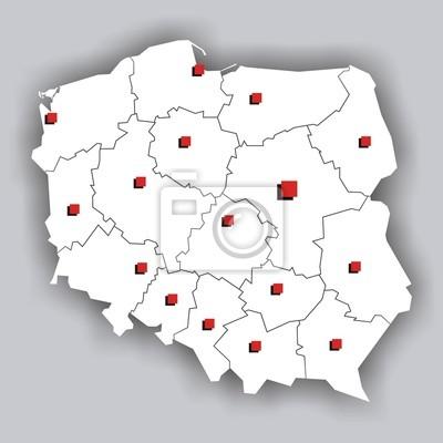 Polska - contour