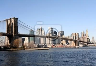 Pont de Brooklyn et Manhattan