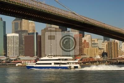 Pont de Brooklyn et Manhattan à New York