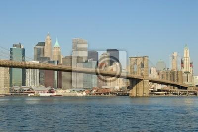 Pont de Brooklyn et Manhattan, New York