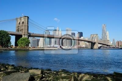 Pont de Brooklyn et Manhattan Skyline