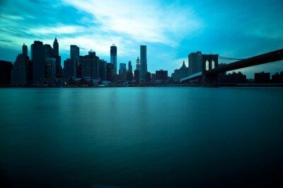 Pont de Brooklyn et Manhattan Skyline, New York City.