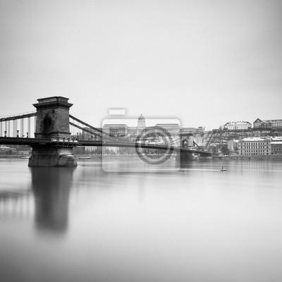 Pont des Chaînes et Palais Royal, Budapest - Hongrie